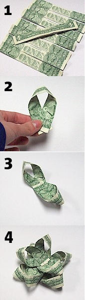 Originální balení peněz jako dárek