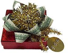 Peníze: originální ozdoba na dárek